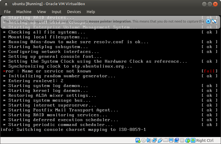 Ubuntu 4.10, Warty Warthog, setup first boot