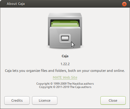 Caja File Manager version number