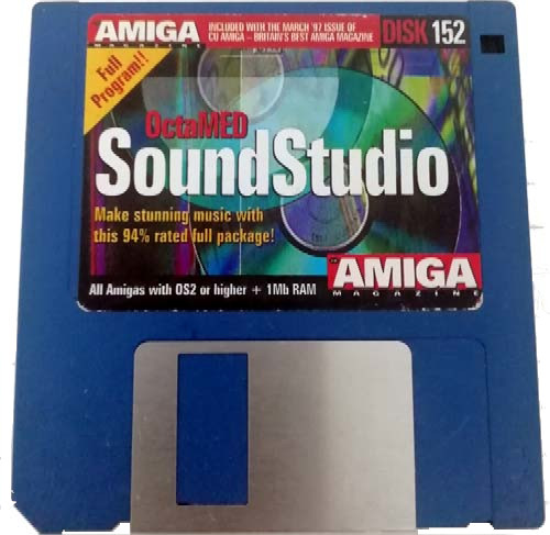 Octamed SoundStudio for the Commodore Amiga on Floppy Disk